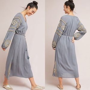 Anthropologie Celestia Beaded Tunic Midi Dress MP
